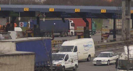 The scene at the Dartford toll tunnel today