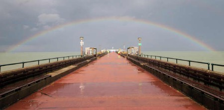End of the pier show for Barwicks - Ray Norman captured this unusual shot