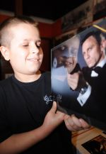 Bradlee Roberts, 11, from Herne Bay with his favourite James Bond, Daniel Craig