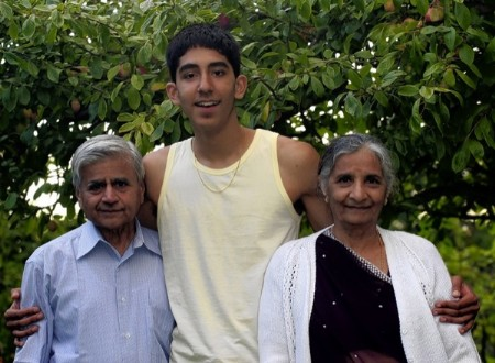 Family photo of the actor famous for Slumdog Millionaire & About Cherry.