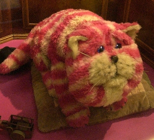 The much-loved Bagpuss on display at the Museum of Canterbury