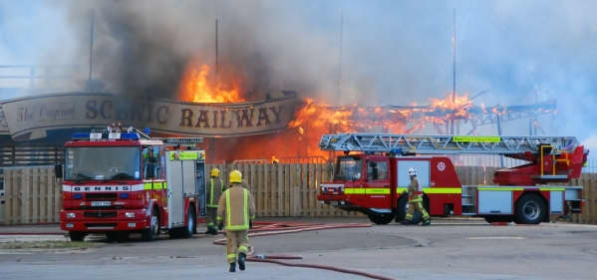 Fire crews from across Kent tackle the blaze