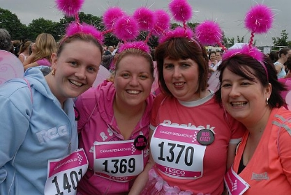 From left, Lucy Waghorn, Emilymay Harrison, Julie Cherry and Barbara Cherry