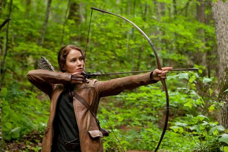 Jennifer Lawrence stars as Katniss Everdeen in The Hunger Games. Picture: Murray Close