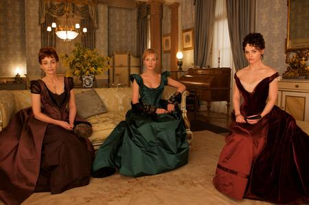 Kristin Scott Thomas as Virginie, Uma Thurman as Madeleine and Christina Ricci as Clotilde. Picture: PA Photo/Studio Canal