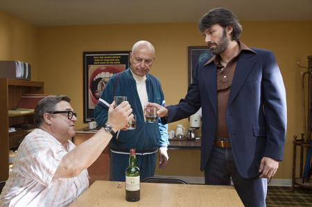 Argo: John Goodman as John Chambers, Alan Arkin as Lester Siegel and Ben Afflick as Tony Mendez. Picture: PA Photo/Warner Bros. Pictures