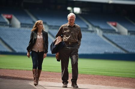 Amy Adams (Mickey) and Clint Eastwood (Gus) in Trouble With The Curve. Picture: PA Photo/Warner Bros. Pictures