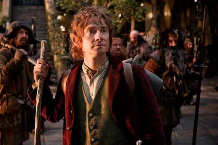 The Hobbit: An Unexpected Journey. Pictured: (l-r) James Nesbitt as Bofur, Martin Freeman (front) as Bilbo Baggins, Stephen Hunter as Bombur, Graham McTavish as Dwalin, William Kircher as Bifur, and Jed Brophy as Nori. Picture: PA Photo/Warner Bros. Pictures