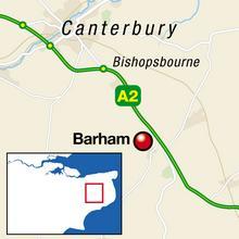 A2 closed at Barham