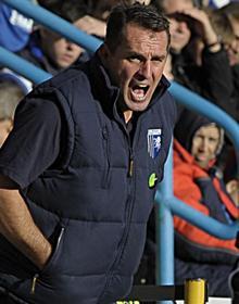 Martin Allen during match against Aldershot