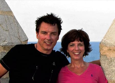 John Barrowman with sister Carole E .Barrowman.