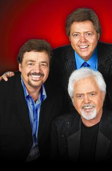 The Osmonds, from left, Jay, Jimmy and Merrill