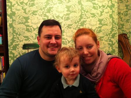 James, Emily and Lucan Bradshaw, who are living a British lifestyle for a year.