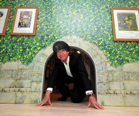 Canterbury-based author and illustrator Anthony Browne opens his new exhibition at the Beaney. Picture: Copyright Seven Stories, National Centre for Children's Books.