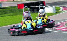 Go-karting at Buckmore Park