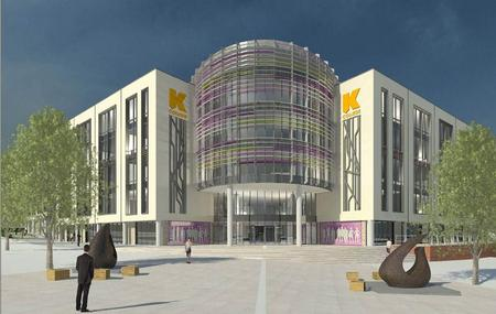 An artist's impression of how the new K College campus at Elwick Road, Ashford, could look