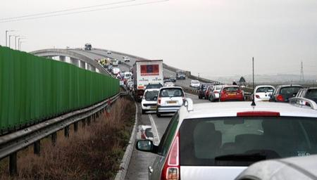 Sheppey Bridge closed after accidents - November 18 2010
