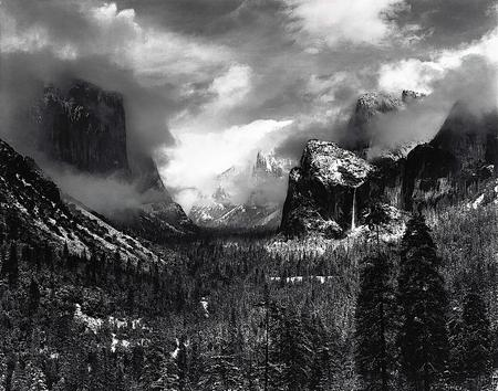 Clearing Winter Storm, Yosemite National Park, California, about 1937 - Photograph by Ansel Adams. Courtesy Center for Creative Photography @202 The Ansel Adams Publishing Rights Trust