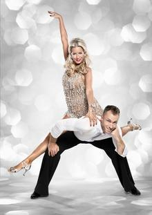 James Jordan and Denise van Outen in Strictly Come Dancing.