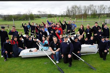 Members of The Dannyboy Trust with Sheppey Sea Cadets and their new boat