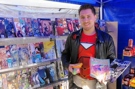 Super business man James Copley has brought American comic books back to the streets of Dartford.