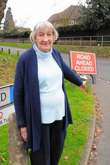 Dorothy Shakespeare, 84, lives in Monks Orchard, just off Oakfield Lane and goes out in her car every morning