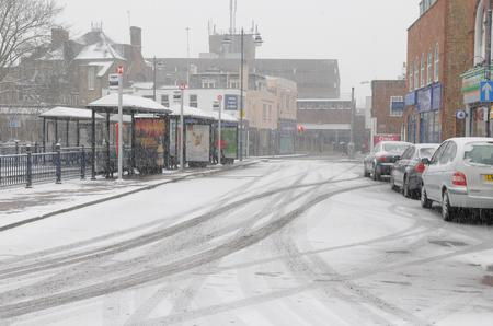 Snow in Dartford town centre in Janaury 2013