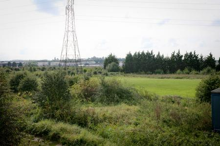 Scene setter of land between Northfleet and Ingress Park in Swanscombe which could be developed into one of the world's biggest Theme Parks.