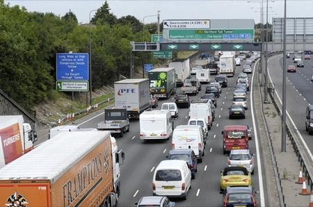 Traffic after the tolls returned to normal at the Dartford Crossing