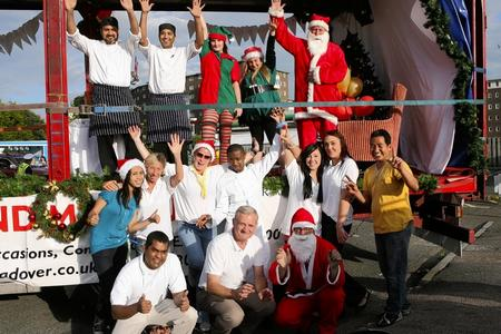 Staff at the Ramada Hotel, Whitfield, chose Christmas as the theme for their float at Dover Carnival.