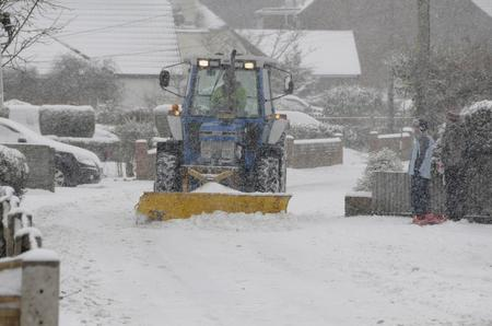 Farmers joined in the job to clear the snow in Whitfield