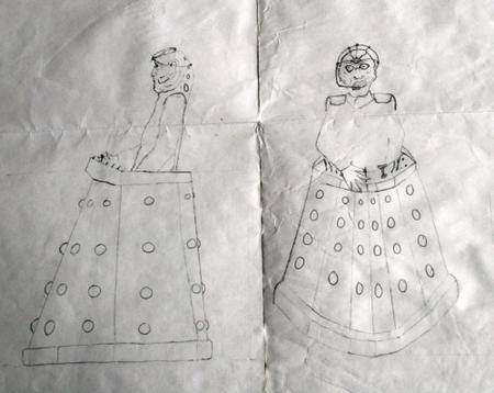 Images created by Steve Clark, who's suing the BBC over claims he created Doctor Who enemy Davros