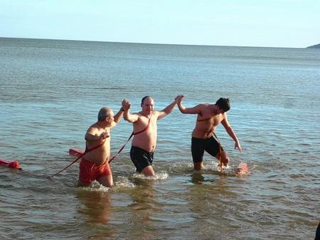 Rochester Swimming and Lifeguard Club's annual arctic dip off the Minster Leas