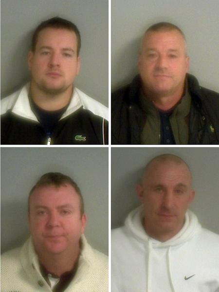 Clockwise from top left: Matthew Newin, Samuel King, Craig Provan and Joseph King