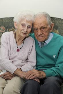 Lillian and Sid Gibbons, of St Richard's Road, Deal, celebrate their 70th anniversary