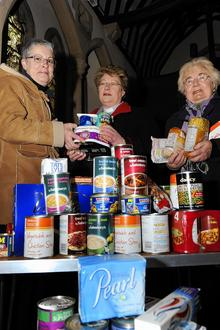 Villagers collect for Foodbank