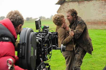 Toby Irvine and Ralph Fiennes filmed at Fairfield, Romney Marsh, for Dickens' Great Expectations.