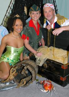 Actress and singer Jennifer Ellison stars in Peter Pan at Bromley's Churchill Theatre, with Balamory's PC Plum Andrew Agnew as Smee and CBBC presenter Gemma Hunt as Tinker Bell.