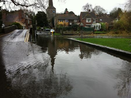 Deep water at Eynsford.