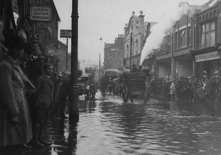 Strood is no stranger to flooding. This picture shows the High Street during the 1921 flood