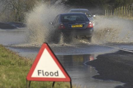 Flooding on the A20 near Folkestone