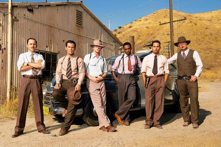 Giovanni Ribisi as Officer Conwell Keeler, Josh Brolin as Sgt. John O'Mara, Ryan Gosling as Sgt. Jerry Wooters, Anthony Mackie as Officer Coleman Harris, Michael Pena as Officer Navidad Ramirez and Robert Patrick as Officer Max Kennard in Warner Bros. Pictures' and Village Roadshow Pictures' drama Gangster Squad. Picture: Wilson Webb