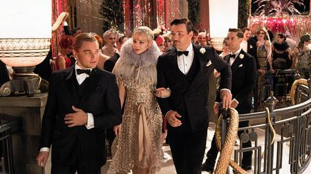 Leonardo DiCaprio as Jay Gatsby, Carey Mulligan as Daisy Buchanan and Joel Edgerton as Tom Buchanan in The Great Gatsby. Picture: Warner Bros. Pictures