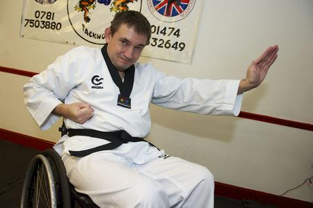 Wheelchair user Paul Irons has a martial arts black belt
