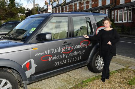 Andrea Leistra next to her 4x4. She runs a hypnotherapy business and was told by KCC she couldn't use the tip because she had advertising on the side of her vehicle.