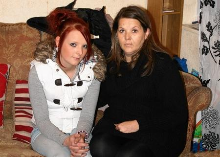 Samantha Braham, pictured left, is currently living with her mum Sara Braham, pictured, at her home nearby to where the killing took place.