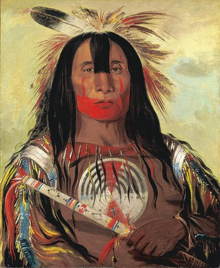 Stu-mick-0-sucks, Buffalo Bull's Back Fat, Head Chief, Blood Tribe Blackfoot/Kainal, by George Catlin, 1832