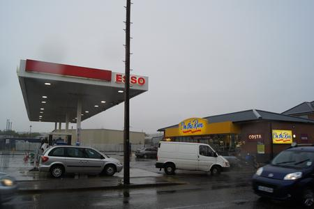 The Esso petrol station in Sturry Road where armed police arrested a man