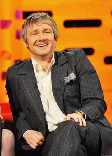 Martin Freeman, during the filming of the Graham Norton Show at The London Studios, south London. Picture: Nick Ansell/PA Photos