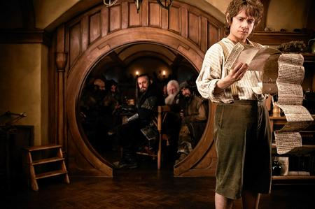 The Hobbit: An Unexpected Journey. Martin Freeman as Bilbo Baggins. Picture: PA Photo/Warner Bros. Pictures
